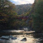 定山渓の紅葉スポット二見吊橋・公園・温泉街散策レビュー